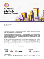 The 7th FDI Moot Asia-Pacific Regional Rounds (20-23 Aug. 2019)