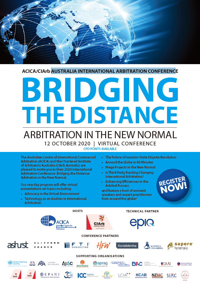 [Supporting Event] Australian Arbitration Week 2020 (AAW 2020) / International Arbitration Conference
